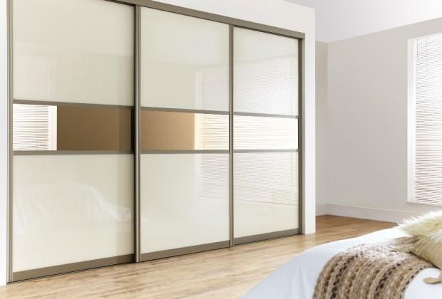 Full Glass Sliderobes Bedroom Design